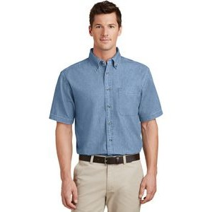 Port & Company® Short Sleeve Value Denim Shirt