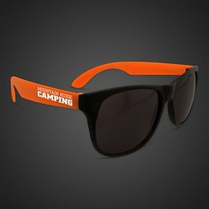 Neon Look Sunglasses w/ Orange Arms
