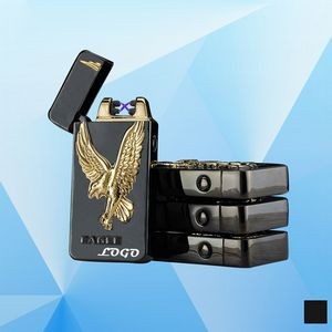 Eagle Pattern Dual Arc Electronic Lighter