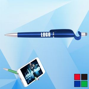 Stylus Ballpoint Pen with Phone Holder