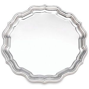"Reed & Barton Chippendale 12"" Sterling Silver Tray"