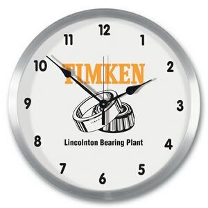 "14"" Aluminum Metal Wall Clock"