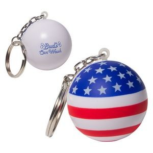 Patriotic Stress Ball Key Chain