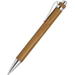 Bamboo pen - chrome trim