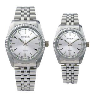 His or Hers Metal Band Watch
